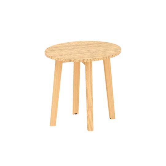 Konferenční stůl ROOT, kruhová deska průměr 500mm, dub