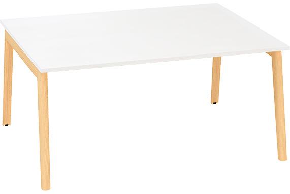 Kancelářský stůl ROOT, dvojpracoviště 1600x1600mm, bílá