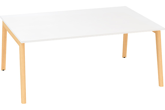 Kancelářský stůl ROOT, dvojpracoviště 1800x1600mm, bílá