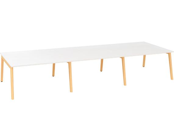 Kancelářský stůl ROOT, šestipracoviště 4200x1600mm, bílá