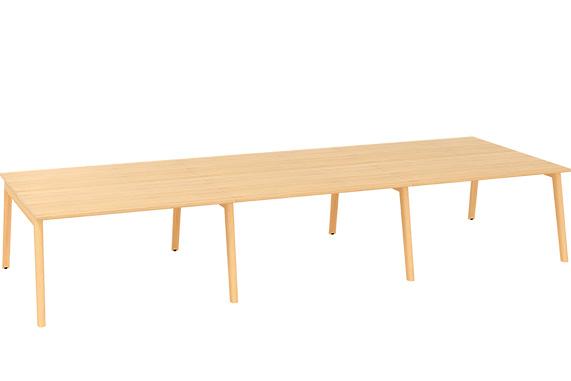 Kancelářský stůl ROOT, šestipracoviště 4200x1600mm, dub