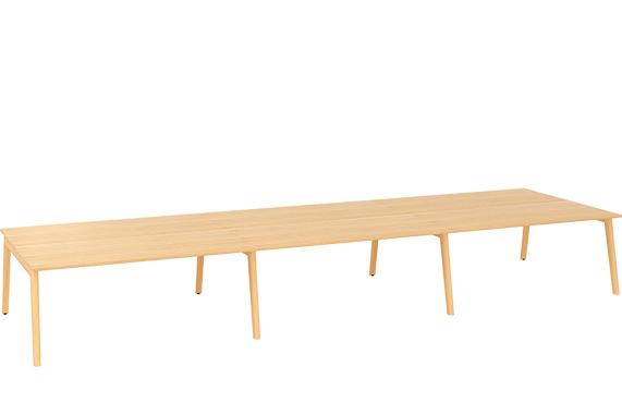 Kancelářský stůl ROOT, šestipracoviště 5400x1600mm, dub