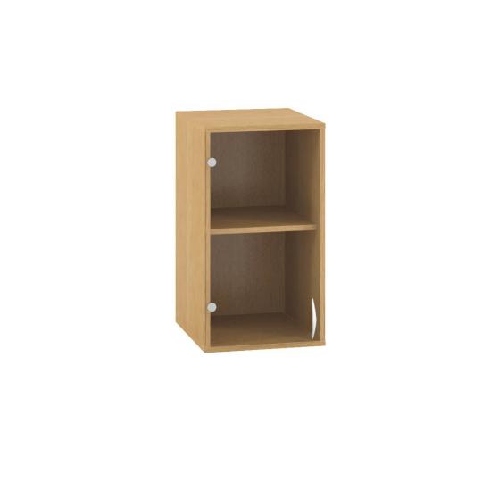 Skříň s dveřmi 400x458x v.717mm, nástavbová, dveře levé, sklo