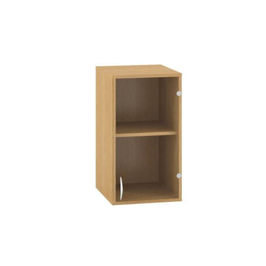 Skříň s dveřmi 400x458x v.717mm, nástavbová, dveře pravé, sklo