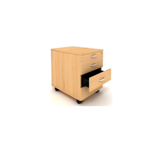 Mobilní kontejner 443x600x600mm, zásuvky 4.4.4.4