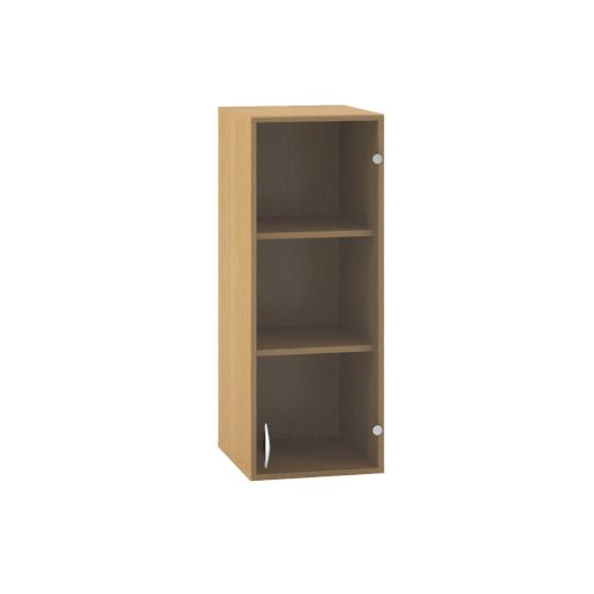 Skříň s dveřmi 400x458x1045mm, dveře pravé, sklo, nástavbová