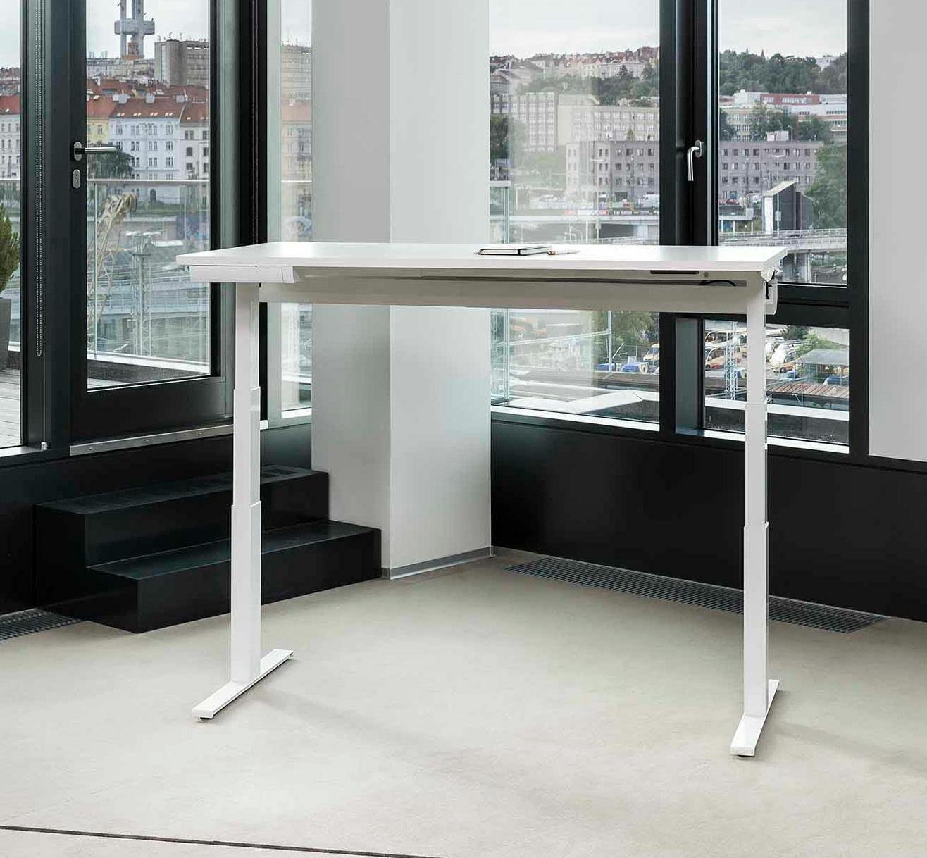 Kancelářský stůl FA UP, 1600x800mm, v.630 až 1290mm