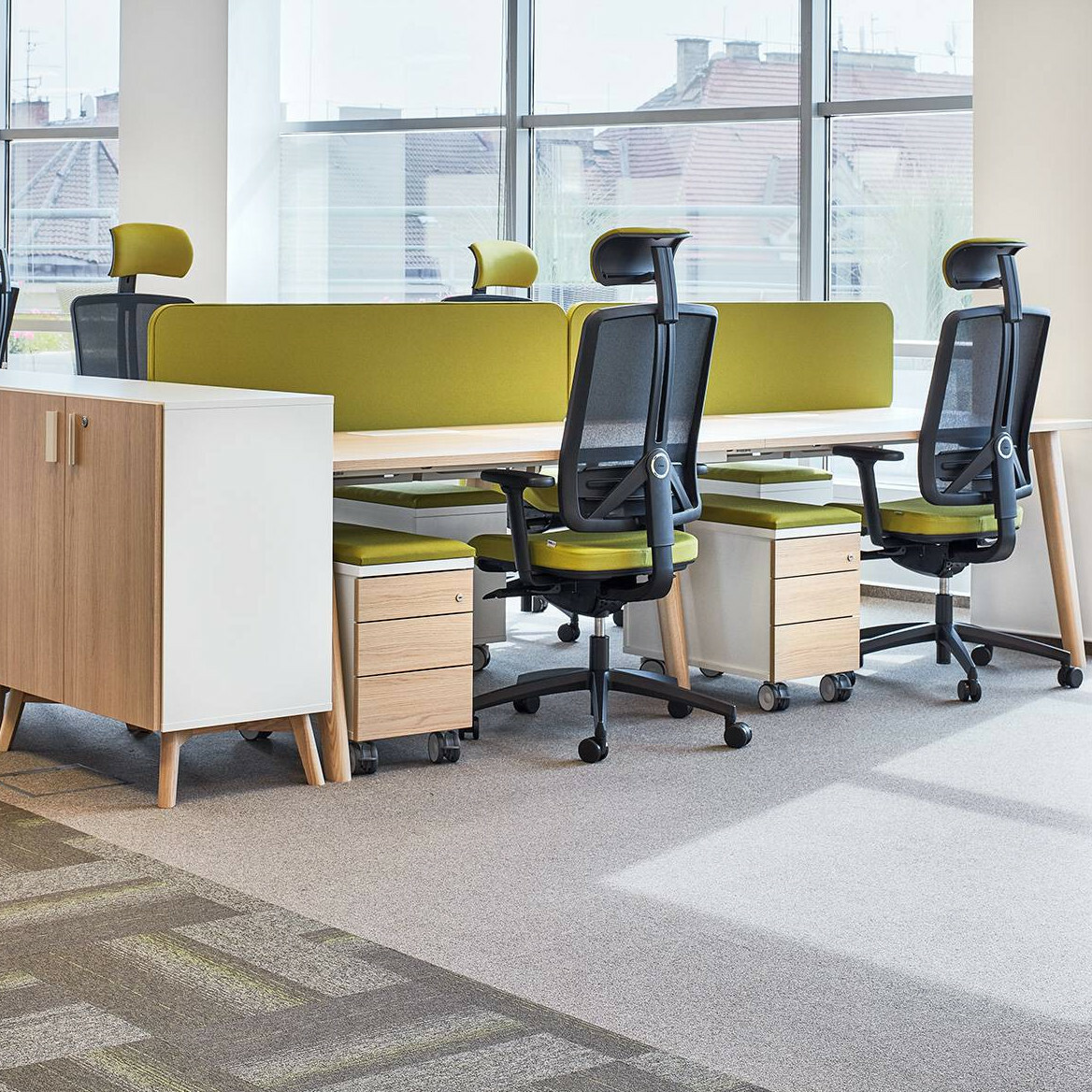 Kancelářský stůl ROOT, 1200x800mm, dub