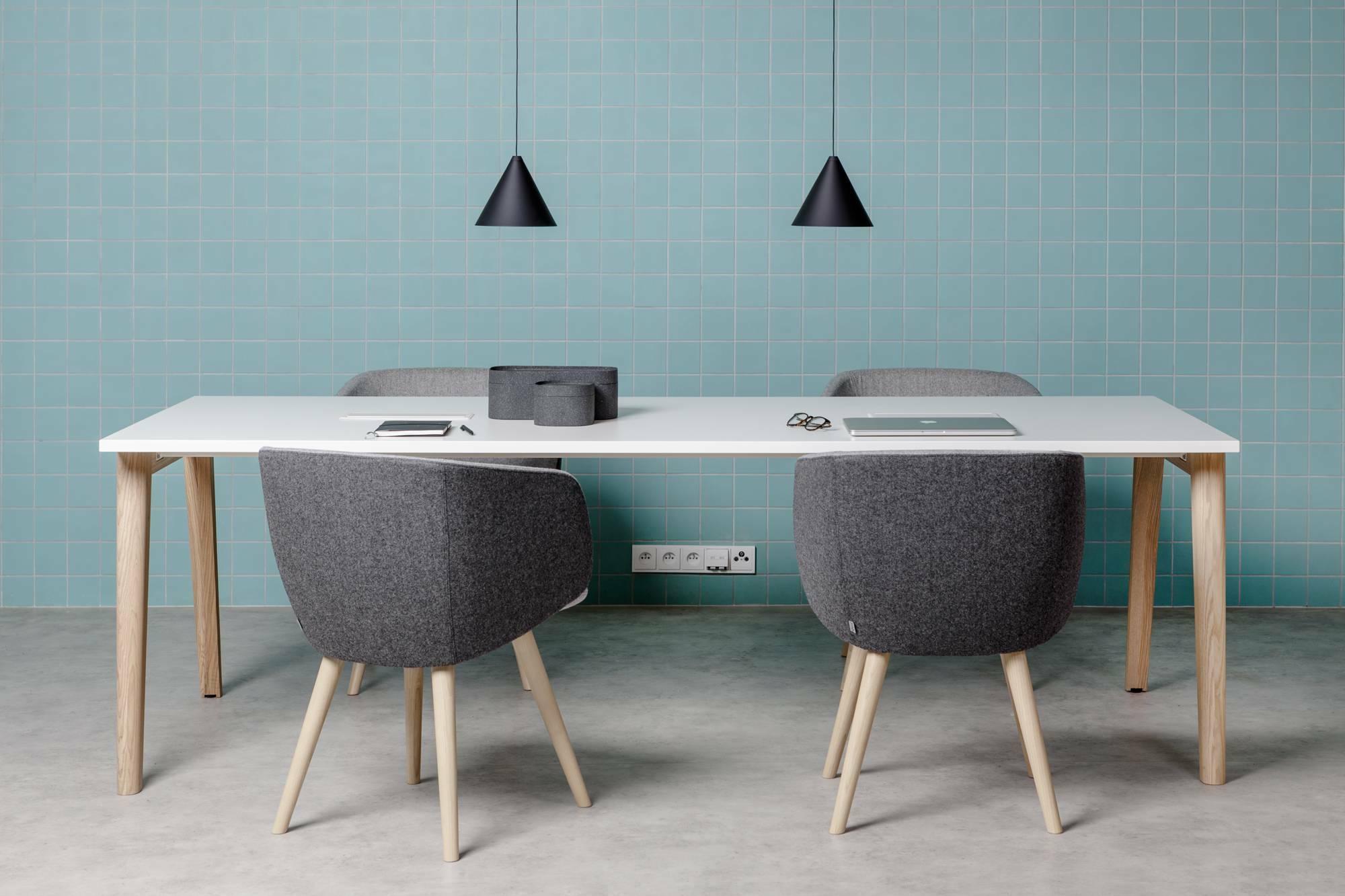 Konferenční stůl ROOT, 2400x1000mm, bílá