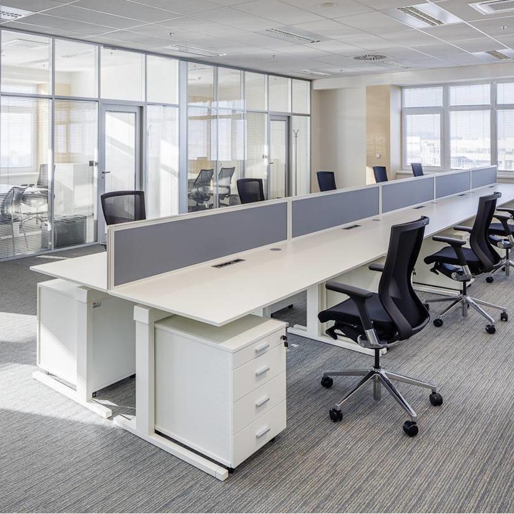 Kancelářský stůl FA300, pravý, rohový 1800/450x1200/800mm