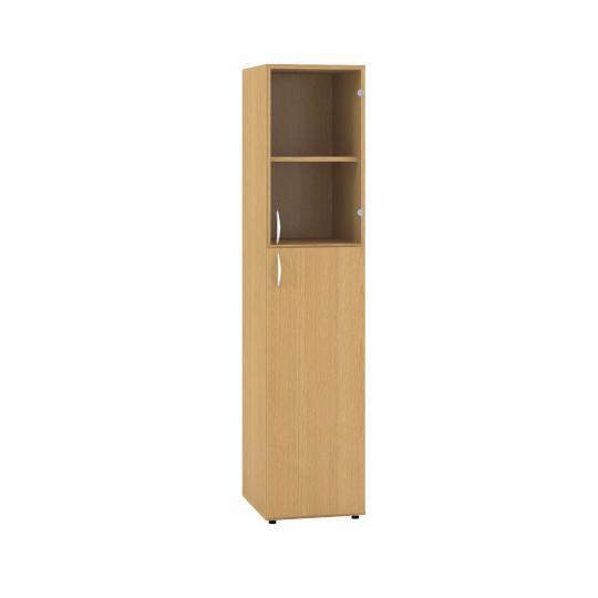 Skříň s dveřmi 400x470x1780mm, pravé dveře dělené LTD, sklo