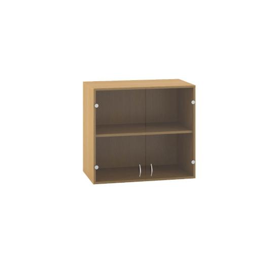 Skříň s dveřmi sklo 800x458x717mm - nástavbová