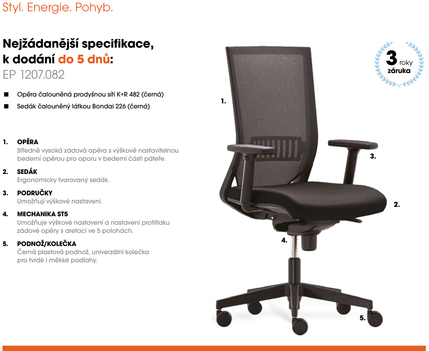 Kancelářská židle EASY