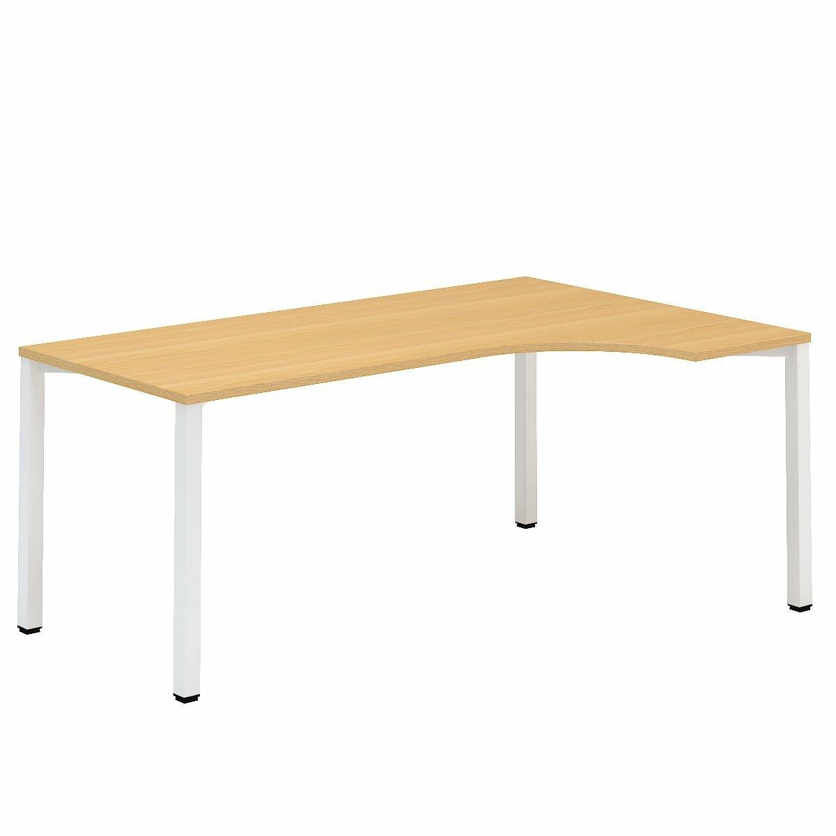 Kancelářský stůl FA 200, pravý, rohový 1800/450x1200/800mm