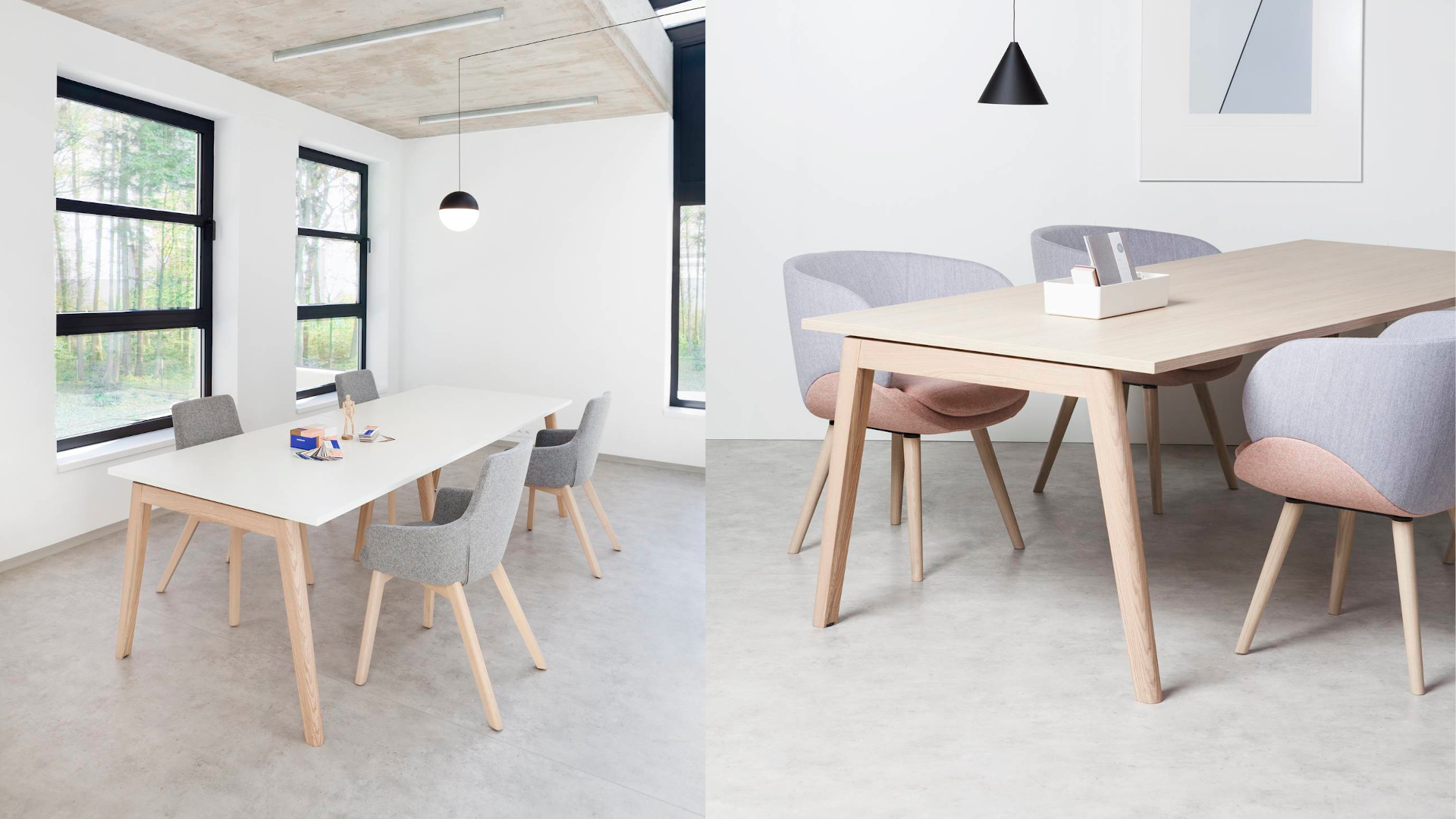 Konferenční stůl ROOT, 2000x1000mm, bílá